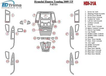 Volkswagen Passat B5 Typ 3B 09.96 - 06.04 Interior Dashboard Trim Kit Dashtrim accessories, wood grain, camouflage, carbon fiber