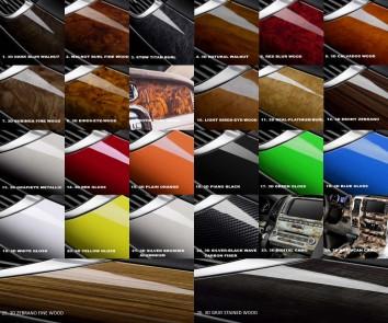 Volkswagen Bora 10.98 - 12.08 Interior Dashboard Trim Kit Dashtrim accessories, wood grain, camouflage, carbon fiber, aluminum d