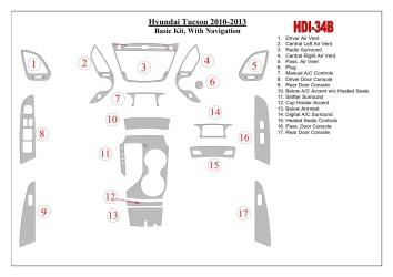 Daewoo Leganza 09.1997 Interior Dashboard Trim Kit Dashtrim accessories, wood grain, camouflage, carbon fiber, aluminum dash kit