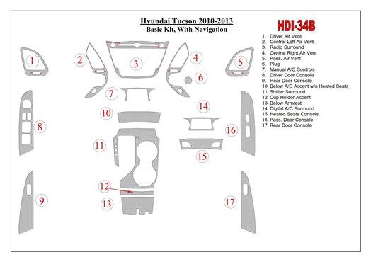 Daewoo Leganza 09.1997 Kit Rivestimento Cruscotto all'interno del veicolo Cruscotti personalizzati 18-Decori