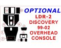 Land Rover Discovery 1999-2002 Overhead Console BD Interieur Dashboard Bekleding Volhouder