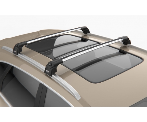 SKODA FABIA ESTATE 08-ON Aluminium Aero Roof Rack Bars Locking Cross Rails